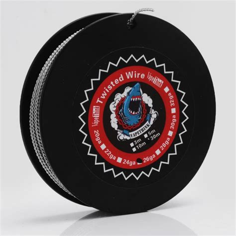 Premium Twisted Kanthal A1 Wire 24 X 2 Ga Awg Rohs Certified authentic vapethink kanthal a1 24ga x 2 0 5mm 30m twisted heating wire