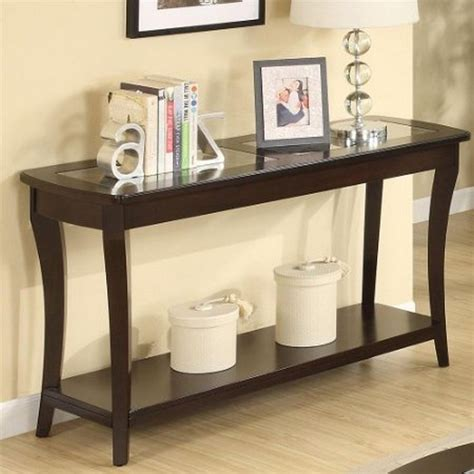Console Table Meja console table design modern wood and glass console table