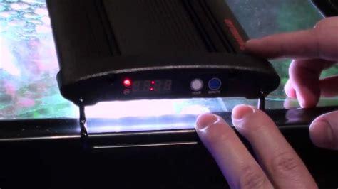 led aquarium light with timer marineland led light with integrated timer setup guide