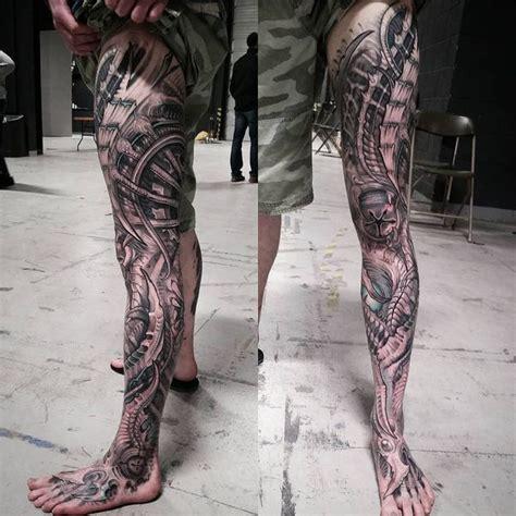 biomechanical tattoo leg sleeve biomechanical tattoos designs best ideas for you