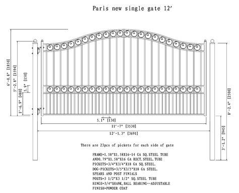single swing driveway gate aleko paris style single swing iron driveway gate 12