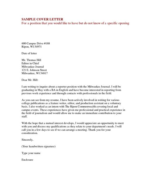 Cover Letter Inquiring About by Cover Letter For Vacancy Inquiry Milviamaglione