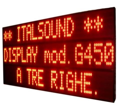 scritte illuminate display a led per scritte scorrevoli produzione e vendita
