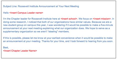 email template to schedule a meeting loft