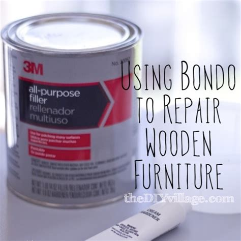 How To Repair Furniture Using Bondo Thediyvillage