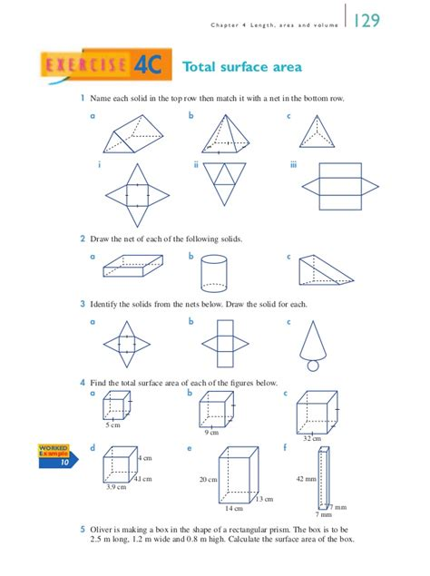 printable surface area nets nets surface area worksheet worksheets for all download