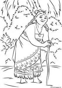 coloring pages moana gramma tala from moana disney coloring pages printable