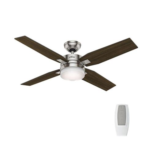 hunter ceiling fans home depot hunter mercado 50 in indoor brushed nickel ceiling fan