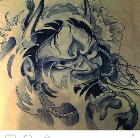 red hannya mask tattoo designs collection of 25 grey japanese mask waves tattoo design