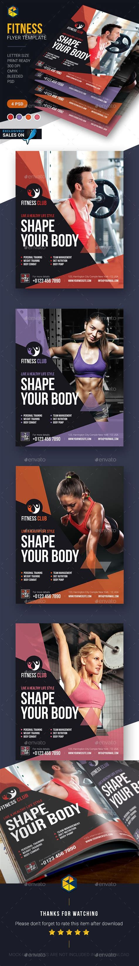 graphicriver flyer download fitness flyer template psd design download http