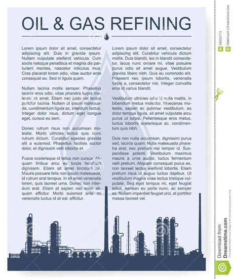 plant layout design journal oil refinery or chemical plant silhouette cartoon vector