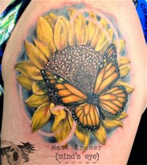 butterfly and sunflower tattoo designs 1000 images about matt kramer s portfolio on
