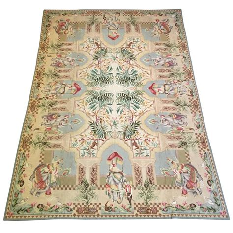 large needlepoint rug by stark at 1stdibs
