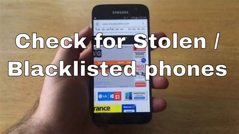 samsung galaxy s7 check imei stolen blacklisted
