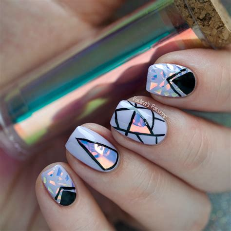Nail Foil by Holographic Foil Nail Design S Passions
