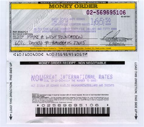 can i make a money order with a credit card benefiting children
