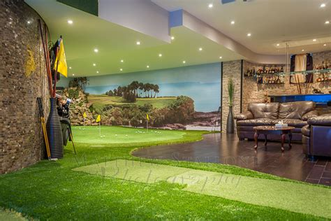 Basement Bathrooms Ideas Golf Putting And Simulator Home Basement Traditional