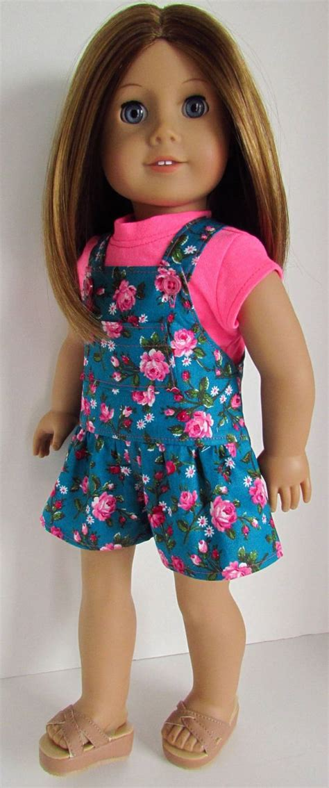 t shirt pattern for american girl doll floral romper with short sleeve t shirt for 18 inch dolls