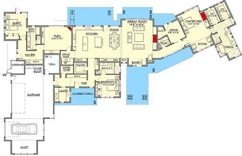 luxury modern house floor plans luxury modern house plan with views 54227hu