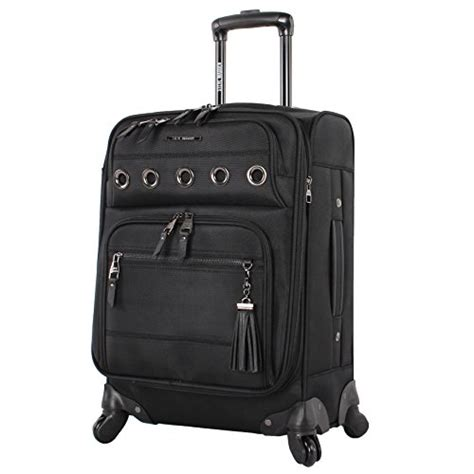 steve madden luggage carry on 20 quot expandable softside suitcase with spinner wheels 20in shadow