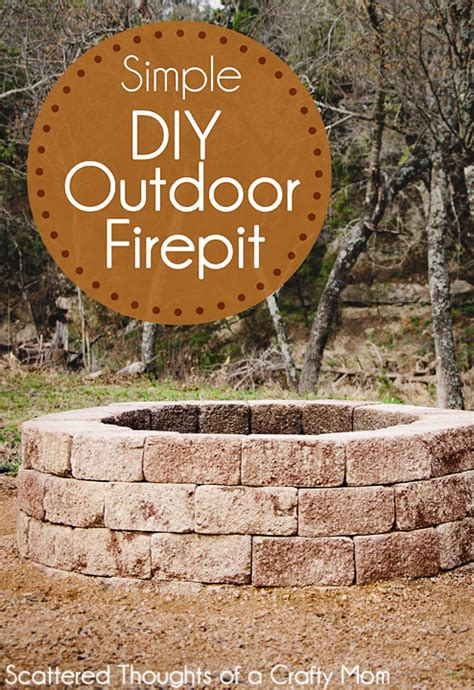 How To Build A Firepit For Your Outdoor Space Scattered Diy Backyard Firepit