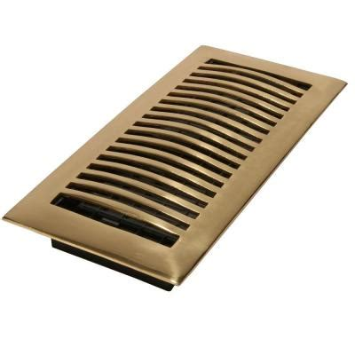 decor grates 4 in x 14 in bright solid brass louvered