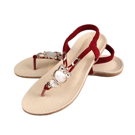 summer slippers fashion summer bohemia slippers flip flops flat
