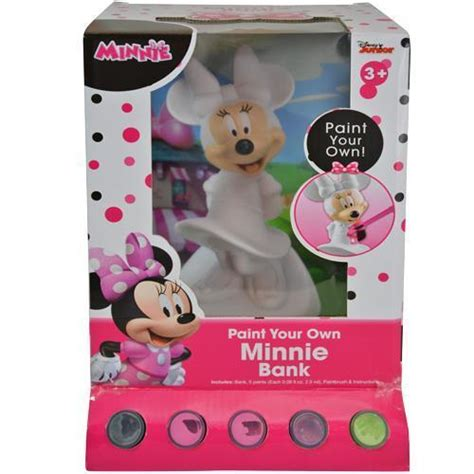Disney Minnie Coin Bank disney minnie mouse paint your own money coin bank for