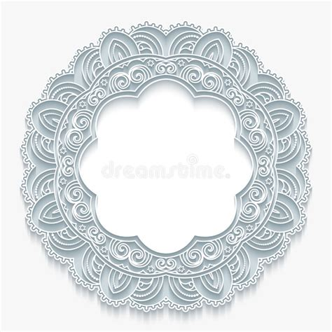 Greeting Card Rectangle Curved Corners Template by Lace Frame Stock Vector Image 58991575