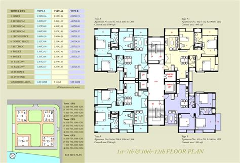 home plan design in kolkata 1st 7th 10th 12th floor plan