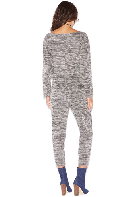 knitted jumpsuit relaxed knit jumpsuit shoedazzle