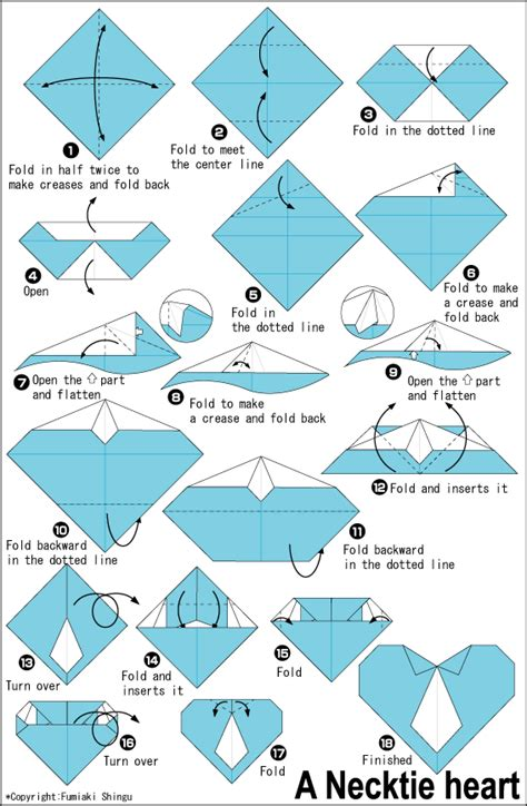 Origami Necktie - origami for make easy origami