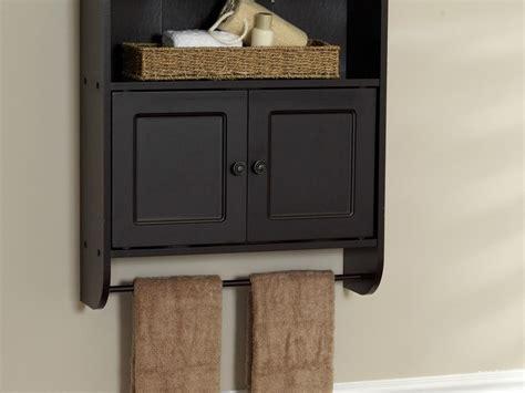 Bathroom Wall Cabinet With Towel Bar Espresso Bathroom Wall Cabinet With Towel Bar Home