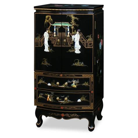 asian jewelry armoire chinese jewelry armoire black lacquer jewelry armoire