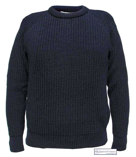 s fishermans jumper navy blue the nautical company uk