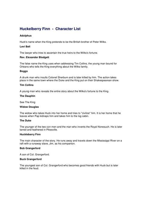 Huckleberry Finn Character Analysis The Character Of Jim