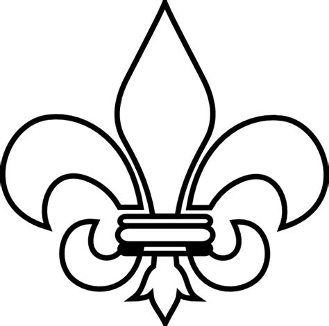 mc fleur de lis clip art at clker com vector clip art