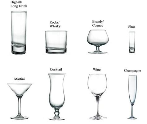types of barware different types of cocktail glass bacardi pinterest