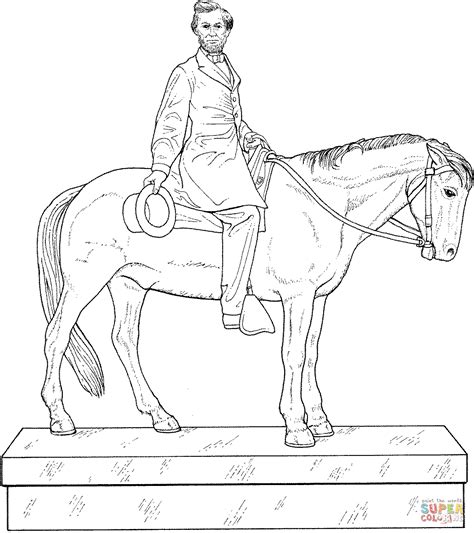Abraham Lincoln Statue Coloring Page Free Printable Coloring Pages Abraham Lincoln Coloring Pages