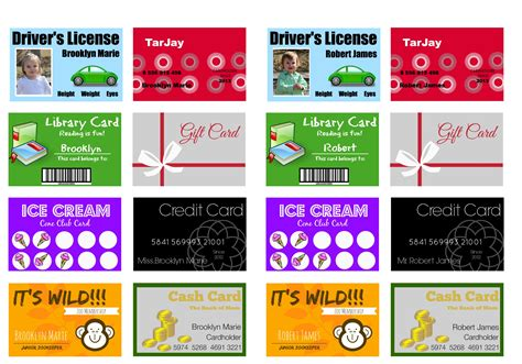 Mastercard Gift Card - printable and customizable play credit cards the crazy craft lady