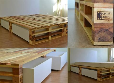 diy pallet bed with storage tutorial best 25 diy bed ideas on diy bed frame bed ideas and king platform bed