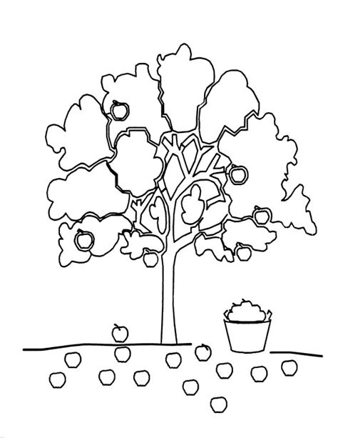 preschool coloring page of a tree preschool coloring sheets for the giving tree apple tree