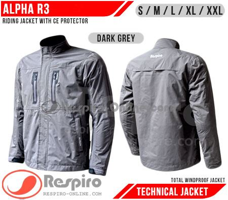 Jaket Bioblits Topi Abu Resleting jaket respiro alpha r3 technical with ce protector