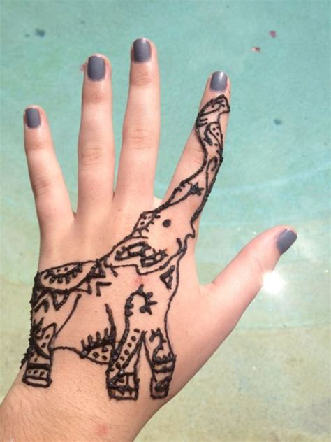 indian elephant henna tattoo elephant henna work