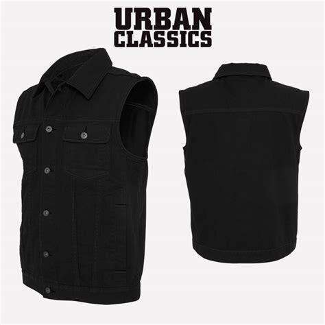 Motorrad Jeansweste Herren by Urban Classics Herren Denim Vest Jeansweste Jeans Jacke