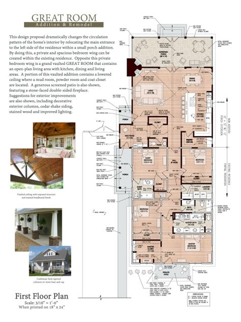 great room addition floor plans floor plans project designed by adam j green architect