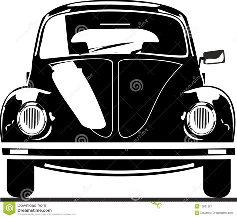 volkswagen beetle front view vw beetle front view stock image image 15821261