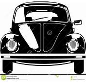 VW Beetle Front View Stock Vector Illustration Of