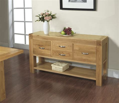 rivermead solid oak modern furniture large console
