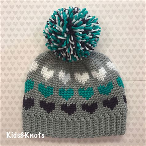 ravelry patterns library little hearts ravelry big heart knit look hat pattern by kelsey daughtry